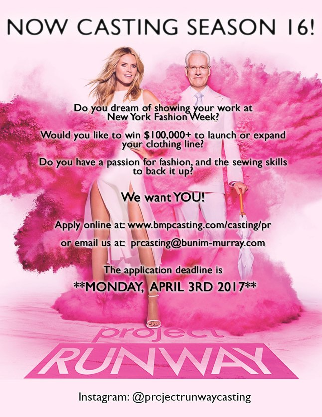 project runway flyer 2